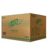 清风原生木浆大卷纸 BJ02AJ 220米/卷 珍宝卷筒卫生纸12卷